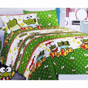 Alona Ellenov Katun Clown Bed Cover Set Katun – Hijau