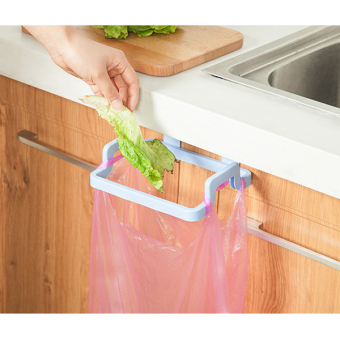 Harga Kitchen Garbage Bags Storage Rack Trash Bag Holder Frame Holder  Cabinet   Intl