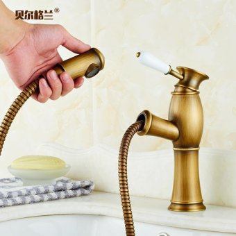 You can pull basin faucet Cu all washbasins, hot and cold shower and wash basin with rain Standards, Standard - intl