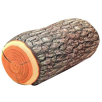 Wood Log Shape Soft Car Seat Head Rest Body Neck Support Throw Pillows Cushion - intl