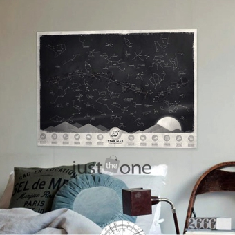 Harga SuperCart Star Map Glow in the Darkness Night Sky Constellations Zodiac Chart Poster Gift