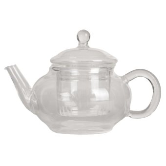 M&C Heat Resistant Clear Glass Teapot With Infuser Coffee Tea Leaf Herbal Pot 250ml - intl
