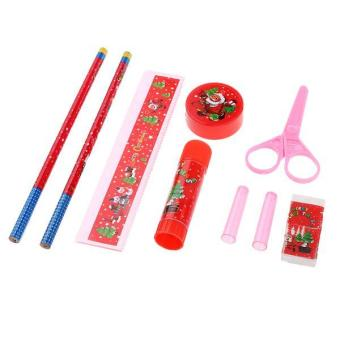 BolehDeals Stationery Set 10pcs Christmas Kids Student Stationery Supplies-Color Random - intl