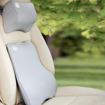 Love Home Premium Memory Foam Car Lumbar Cushion & Car Neck Pillow Kit (gray) - intl
