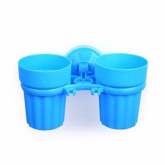 Harga Cop Gelas Couple / Gelas Kumur dan Gelas Tempat Sikat Gigi / Odol - Biru