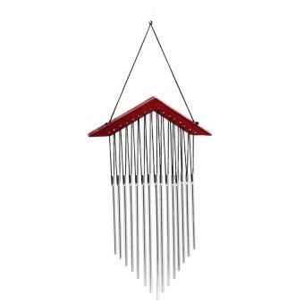 Lucky 15 Tubes Windchime Yard Garden Outdoor Living Wind ChimesDecor Gift C - intl