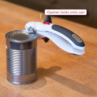 ZYLISS Lock N' Lift Can Opener with Lid Lifter Magnet, White - intl