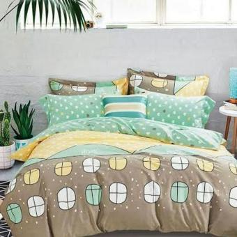 Alona Ellenov Jepang Windows At Home Bed Cover Set Katun Jepang Super 200 x 200