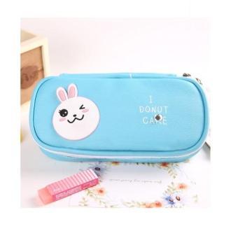 Han edition of multi-function simple pencil bag new South Korea pencil case/box big capacity PU - intl