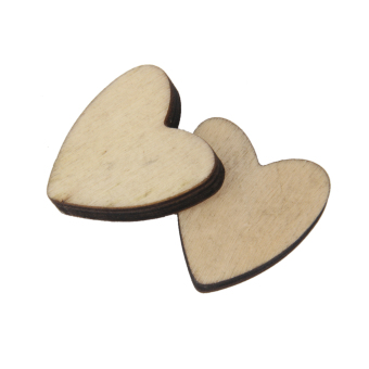 BolehDeals 20pcs Nature Wood Wooden Hearts Scrapbooking Embellishments Crafts