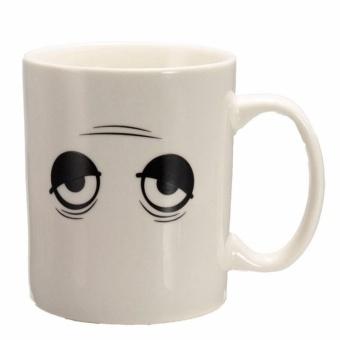 Eason Creative Just Wake Up Eye Ceramics Color Changing Coffee Tea Mug White Hot Sales - intl