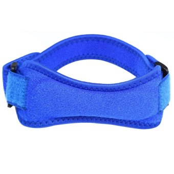 Velcro Kneepad Sport Knee Protector Leg Warmer Blue--TC - intl