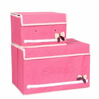 Harga BEST Tempat Penyimpanan 2in1 Set BUTTERFLY Storage Box Baju Organizer 2 in 1