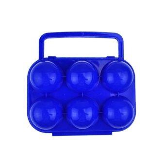 Harga Look Kotak Telur 6 Butir - Biru