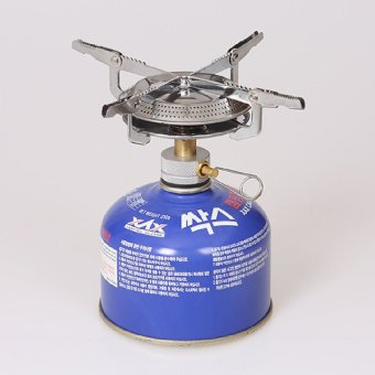 HKS Portable BBQ Outdoor Picnic Gas Burner Camping Mini Stainless Steel Stove
