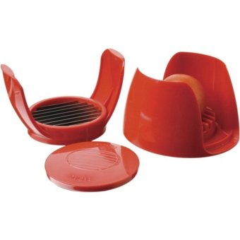 Multifunction Kitchen Tomato and Mozzarella Slicer / Pemotong Tomat - Red