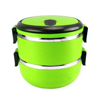 Harga Beau Lunch Box Stainless Steel Rantang 2 Susun