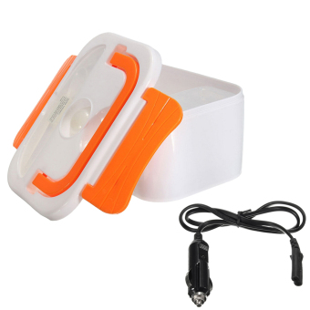 BolehDeals Orange Electric Heated Portable Compact FOOD WARMER Lunch Bento Box 40W - intl