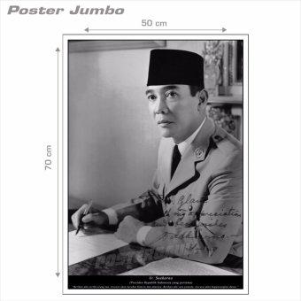 Harga Poster Jumbo: Presiden Soekarno #18 - 50 x 70 cm