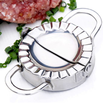 Pastry Tools Stainless Steel Wraper Dough Cutter Pie Ravioli Dumpling Mould Silver 8CM - intl