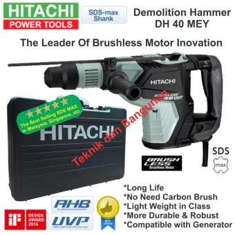 Hitachi SDS MAX Demolition Hammer DH-40MEY (Brushless)