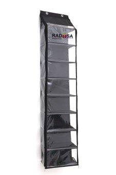 Harga Radysa Hanging Shoe Organizer Zipper Jumbo Rak Sepatu Gantung - Hitam