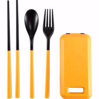 Sendok Garpu Sumpit Portable - Orange