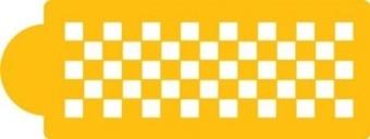Designer Stencils Checkerboard Cake Stencil Side - intl