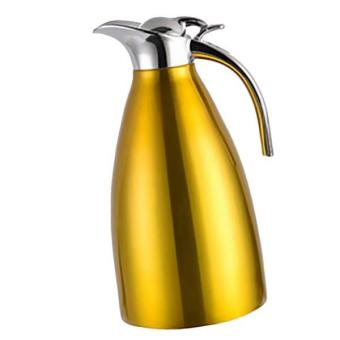 BolehDeals 2L Double Vacuum Insulation Thermal Coffee Carafe Home Water Pot Yellow - intl