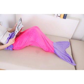 Super Soft Mermaid Tail Blanket Sofa Sleeping bags Flannel Kids Girl Costume - intl
