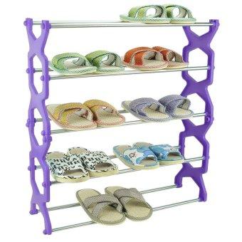 Cestlafit Five Diamond Stainless Steel Shoe Rack (Violet) - intl