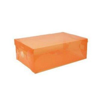 Harga StarHome Kotak Sepatu Transparan - Tempat Sepatu Shoes Box Orange