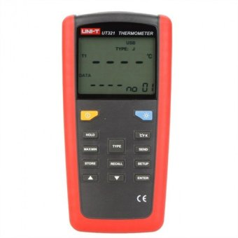 UT321 Digital Thermometer K/J/T/E Type Temperature Tester Sensorw/LCD Backlighgt & USB Interface UNI-T - intl