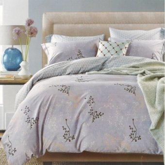 Depo Sprei dan Bed Cover Dot Grey Full Katun