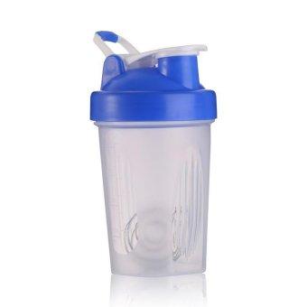 400ml Shaker Cup BPA Free Shake Blender Mixer Drink Bottle With Mixer Ball(blue) - intl
