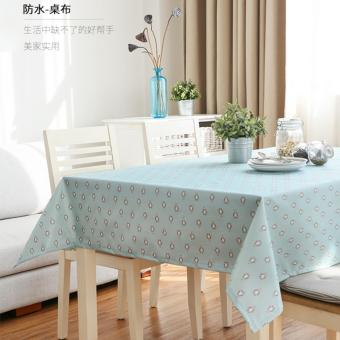 100X140CM Waterproof Tablecloth TV Cabinet Table Cloth Rural Coffee Table Cloth Round Tablecloths Square Table Cute Penguin Computer Table Decorative Tablecloths - intl