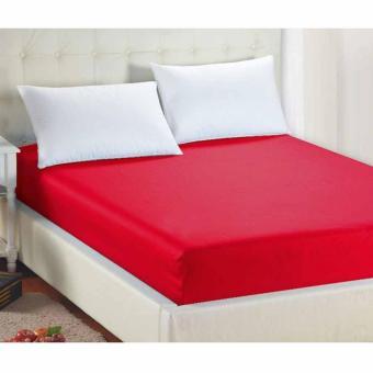 Alona Ellenov Sarung Kasur Waterproof (Anti Air) Warna Merah Uk 160x200x15cm - Merah