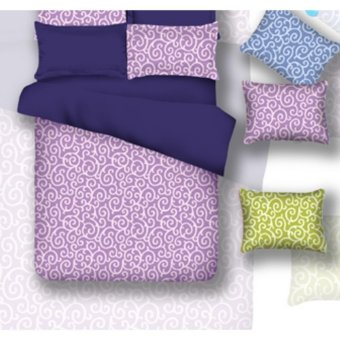 sprei waterproof anti air jaxine(sprei only)-ulir lilac