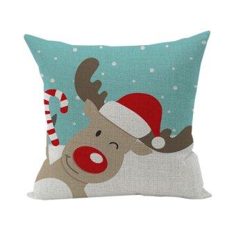 Nunubee Christmas Animal Home Pillowcase Living Room Cushion Throw Decorative Soft Pillow Cover Style 16
