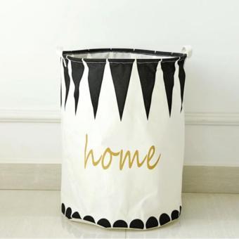 40*50cm Portable Cotton&Linen Storage Barrel Large Capacity Dirty Clothes Storage Basket Folding Laundry Pouch