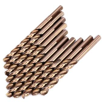 M35 10PCS 1/4 Inch High Speed Steel 3.94 Inches Long Triangle Shank Drill Bit with Cobalt - intl