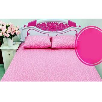 Alona Ellenov Sprei Set Waterproof Anti Air Warna Ukir Pink - Pink