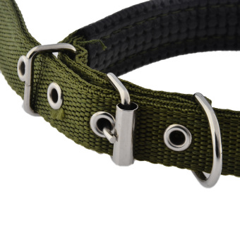 360DSC Super Comfort Adjustable Foam Cotton Pet Dog Collar - M Army Green (Intl)