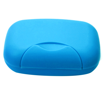 Harga Perjalanan Sabun Piring Pemegang Kotak Plastik Wadah Kotak Penyimpanan Kunci Besar Dengan Ukuran Biru