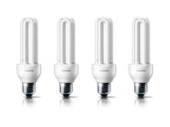 Philips Essential - Lampu Hemat Energi - 23 W - 4 Pcs - Putih