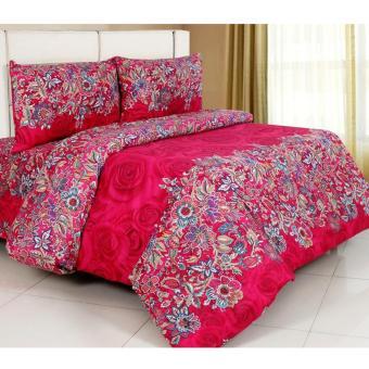 Alona Ellenov Mawar Batik Merah Bed Cover Set – Merah
