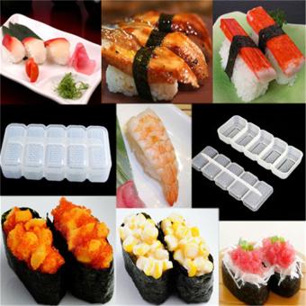 Japan Nigiri Sushi Mold Rice Ball 5 Rolls Maker Non Stick Press Bento Tools - intl
