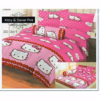 Harga Sprei LADY ROSE Motif KITTY DANIEL PINK Queen Size 160 x 200 cm