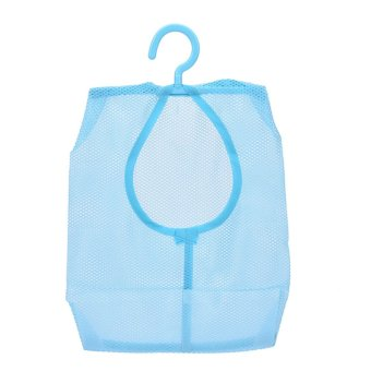 Polyester Hanging Type Multipurpose Receive Mesh Bag Convenient Blue - intl