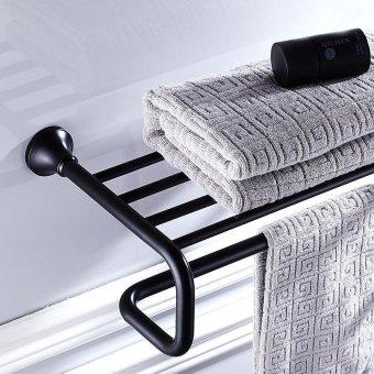 Copper black antique towel rack ,K6803 black ancient Bathroom shelf - intl